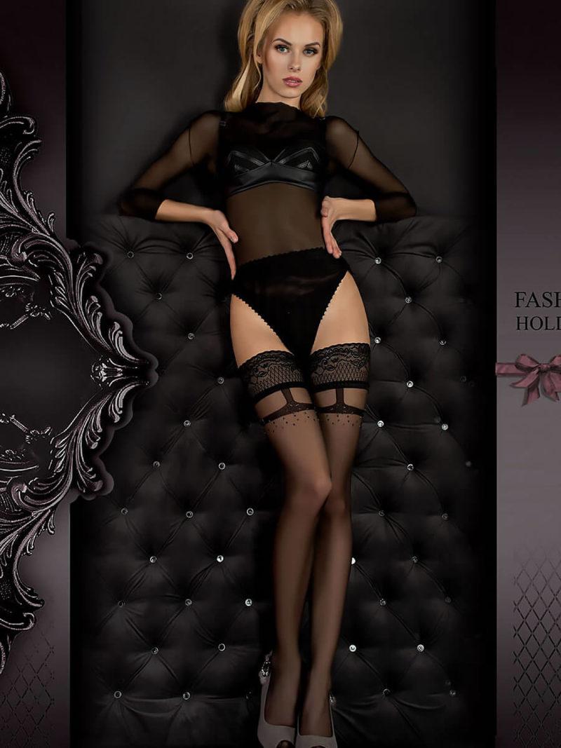 Ballerina Art.344 Hold Up Stockings (black)