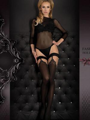 Ballerina Art.345 Hold Up Stockings (black)