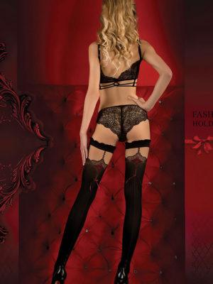 Ballerina Art.346 Hold Up Stockings (black/red)