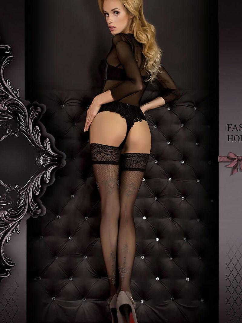 Ballerina Art.351 Hold Up Stockings (black/smoke)