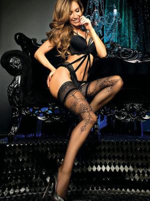 Ballerina Art.442 Hold Up Stockings (black)