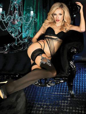 Ballerina Art.450 Hold Up Stockings (black)