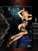 Ballerina Art.451 Hold Up Stockings (black)