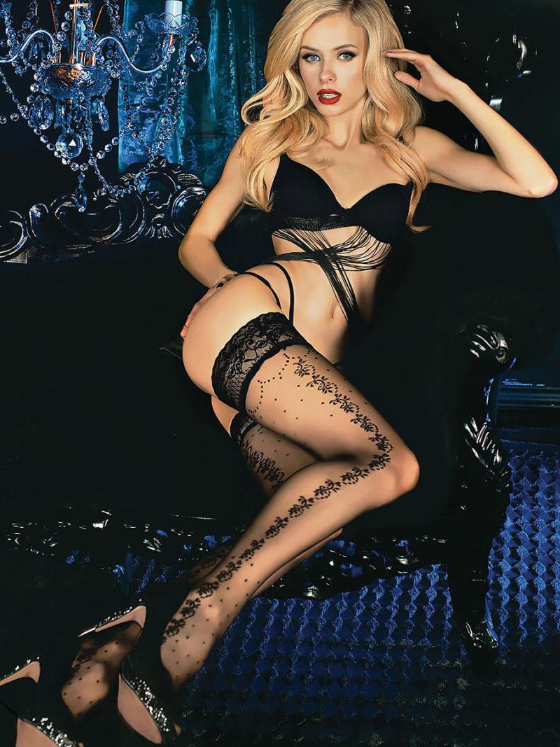 Ballerina Art.452 Hold Up Stockings (black)