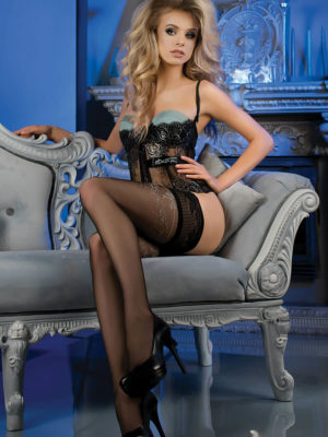 Ballerina Art.469 Hold Up Stockings (black)