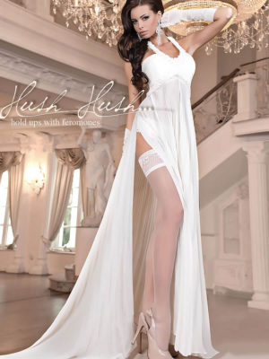 Ballerina Art.800 Hold Up Stockings With Pheromones (avorio/ivory)