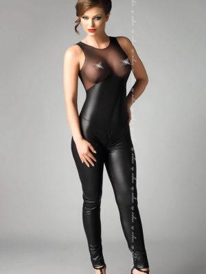 Me Seduce 'demi' Erotic Fantasy Lingerie Catsuit (black)