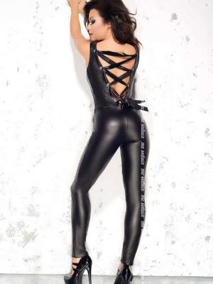 Me Seduce 'doris' Erotic Fantasy Lingerie Wet Look Catsuit (black)