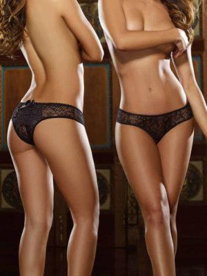 Dreamgirl Ruffled Fun Open Crotch Bikini Panty