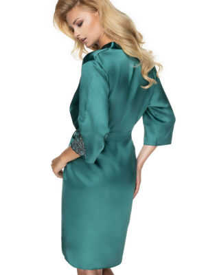 Irall Satin Collection 'emerald' Robe (dark Green)