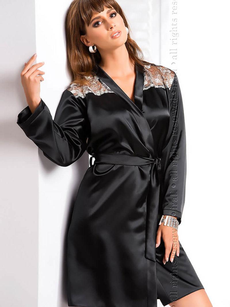 Irall Satin Collection 'ida' Robe (black)