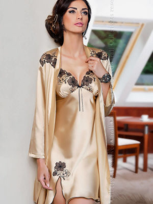 Irall Satin Collection 'petra' Robe (champagne)