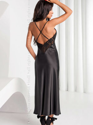 Irall Satin Collection 'yoko' Nightdress (black)