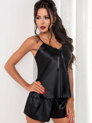 Irall Satin Collection 'aria' Shorts And Cami  Set (black)