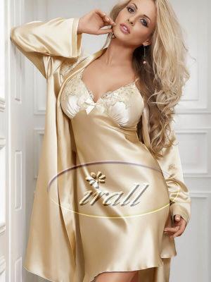 Irall Satin Collection 'parisa' Robe (beige)