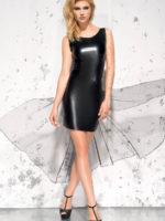 Me Seduce 'jasmin' Erotic Fantasy Wet Look Clubwear Dress (black)