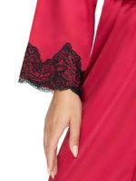 Irall Satin Collection 'juniper' Robe (burgundy)