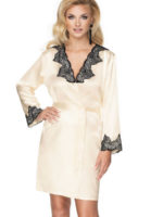 Irall Satin Collection 'juniper' Robe (cream)