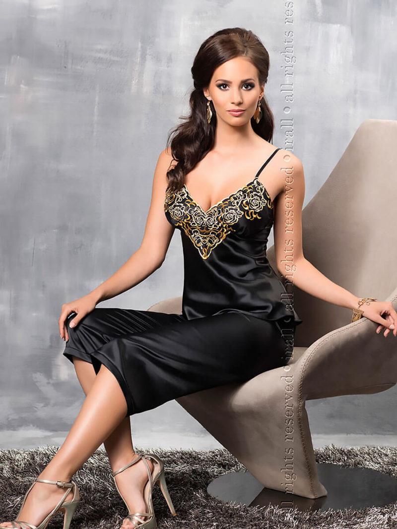 Irall Satin Collection 'luna' Pyjamas (black/gold)