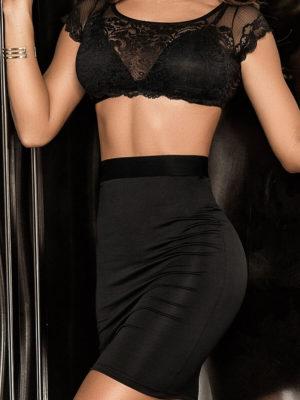 Mapalé Lingerie Lace Crop-top, Bra And Skirt 3-piece Club Dress