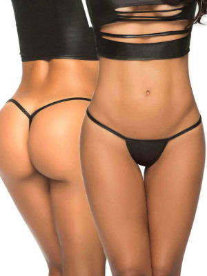 Mapalé Mix And Match Stage Wear Wetlook Thong (black)