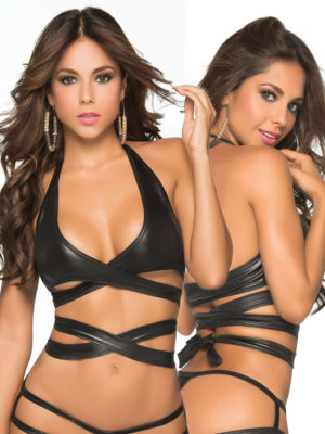 Mapalé Mix And Match Stage Wetlook Wrap Around Top