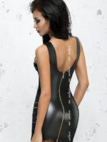 Me Seduce 'lea' Erotic Fantasy Wet Look Clubwear Dress (black)