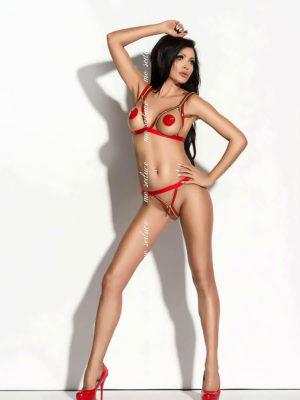 Me Seduce 'monroe' Erotic Fantasy Zippy Open Cup Lingerie Set (red)