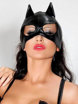 Me Seduce 'mask' 002 Erotic Fantasy Wet Look Cat Woman (black)