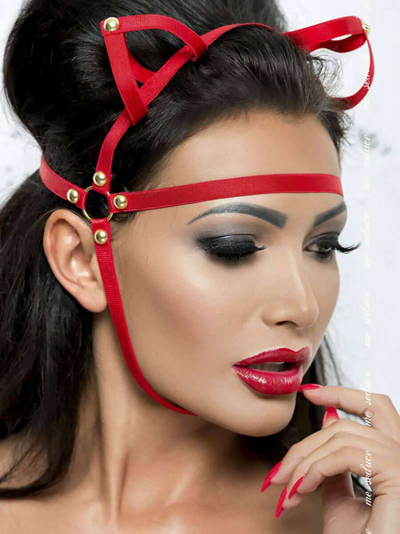 Me Seduce 'mask' 005 Erotic Fantasy Lingerie With Cat Ears (red)