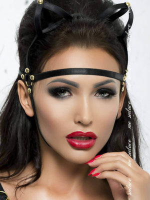 Me Seduce 'mask' 006 Erotic Fantasy Lingerie With Cat Ears (black)