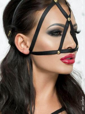 Me Seduce 'mask' 009 Erotic Fantasy Lingerie Straps And Studs (black)