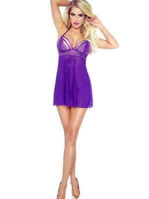 Provocative Seduction Po6004 Purple Seduction Babydoll (purple)