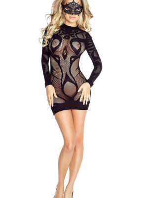 Provocative Seduction Pr4710 Sexy Mini Dress (black)