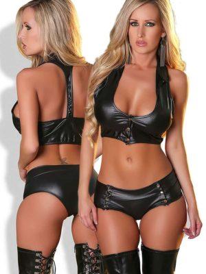 Provocative Seduction Pr0107 Sexy 2-piece Set (black)