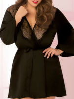 Seven 'til Midnight Sexy Toast Of The Town Robe (plus Size – Black)