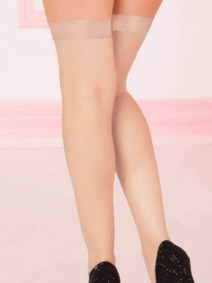 Seven 'til Midnight Sheer Thigh High Stockings (nude)