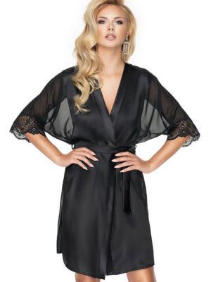 Irall Satin Collection 'sharon' Robe (black)