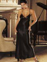Shirley Of Hollywood 20300 Bedroom Wear Nightdress (black)