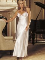 Shirley Of Hollywood 20300 Bedroom Wear Nightdress (white)