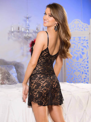Shirley Of Hollywood 3284 Bedroom Wear Chemise (black)
