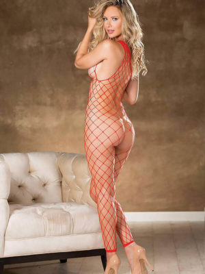 Shirley Of Hollywood 90449 Bedroom Wear Bodystocking (red)