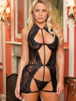Shirley Of Hollywood 96745 Bedroom Wear Chemise (black)