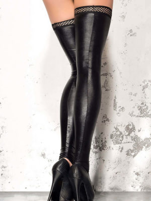 Me Seduce 'stockings – Footless' 001 Erotic Fantasy Wet Look (black)