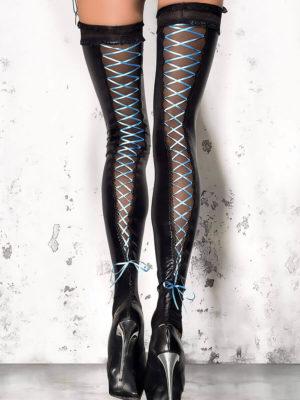 Me Seduce 'stockings – Footless' 005 Erotic Fantasy Lace Up Pattern (black)