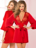 Seven 'til Midnight Sexy Toast Of The Town Robe (red)