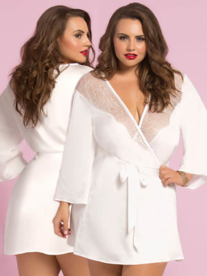 Seven 'til Midnight Sexy Toast Of The Town Robe (plus Size – White)