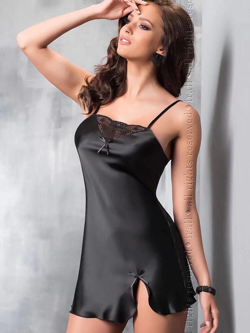 Irall Satin Collection 'tara' Nightdress (black)