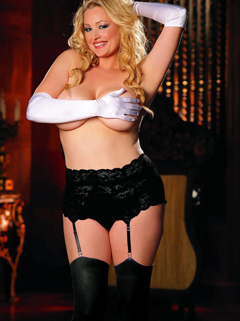 Shirley Of Hollywood X20146 Plus Size Suspender Belt (black)
