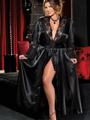 Shirley Of Hollywood X20559 Plus Size Robe (black)